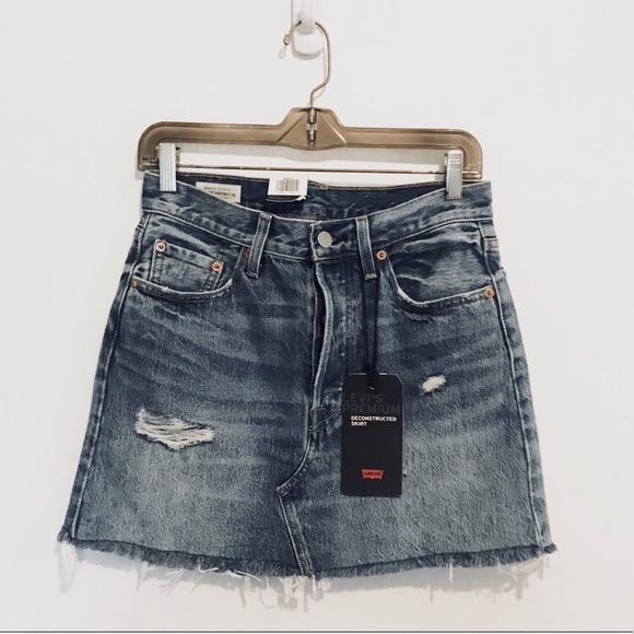6d2b87a81b Levi's Skirts | Sale Levis Deconstructed Denim Skirt | Poshmark